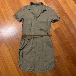 Theory shirt dress with belt size 2
